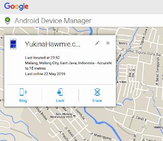 Tes Mencari dan Mengunci ponsel / handphone dari jarak Jauh