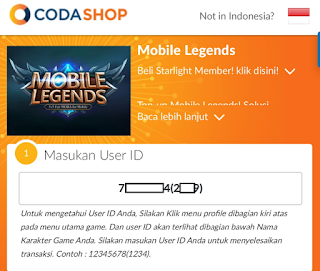 Cara Top Up Diamonds Mobile Legends dengan Pulsa di Codashop