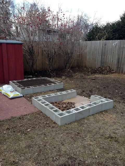 cinder blocks, raised beds, cinder block raised beds, gardening, Anne Butera, My Giant Strawberry