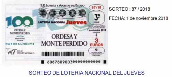 loteria nacional del jueves 1 de noviembre