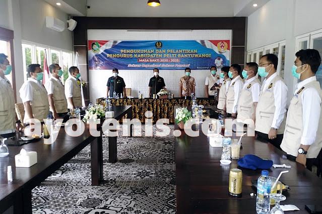 Ketua 1 Pengprov PELTI Jatim Lantik Pengkab PELTI Banyuwangi Masa Bakti 2020-2025