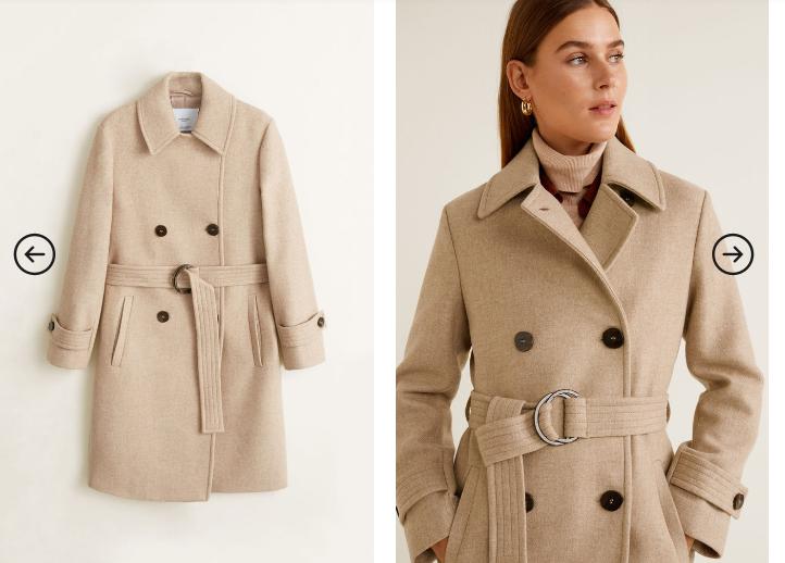 Palton gros de iarna scurt pentru orice tinuta de zi moderna
