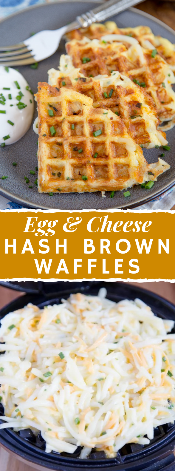 EGG & CHEESE HASH BROWN WAFFLES #breakfast #healthyrecipes