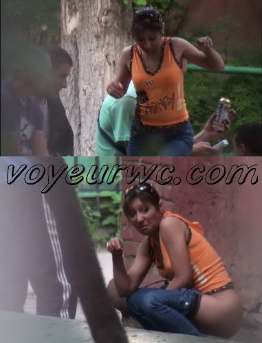 Video compilation of girls caught by spy camera pissing in local places (Outdoor voyeur pissing 03)