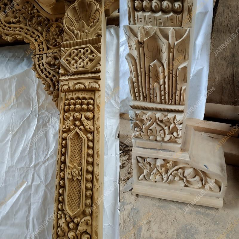 Pintu Gebyok Ukir Klasik Kuno Mewah Ke Pekalongan
