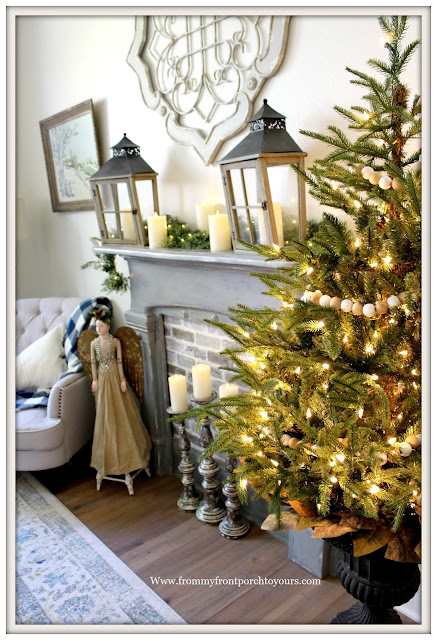 French Country-French Farmhouse-Christmas-Bedroom-Cottage Style-From My From Porch To Yours