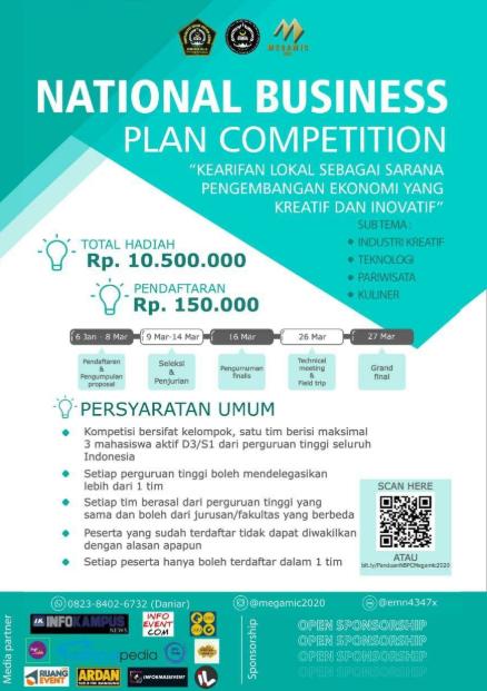Lomba Business Plan Nasional 2020 di UNISSULA Semarang