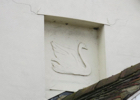 Photograph of the Swan on the wall of Swan Lodge, Bell Bar