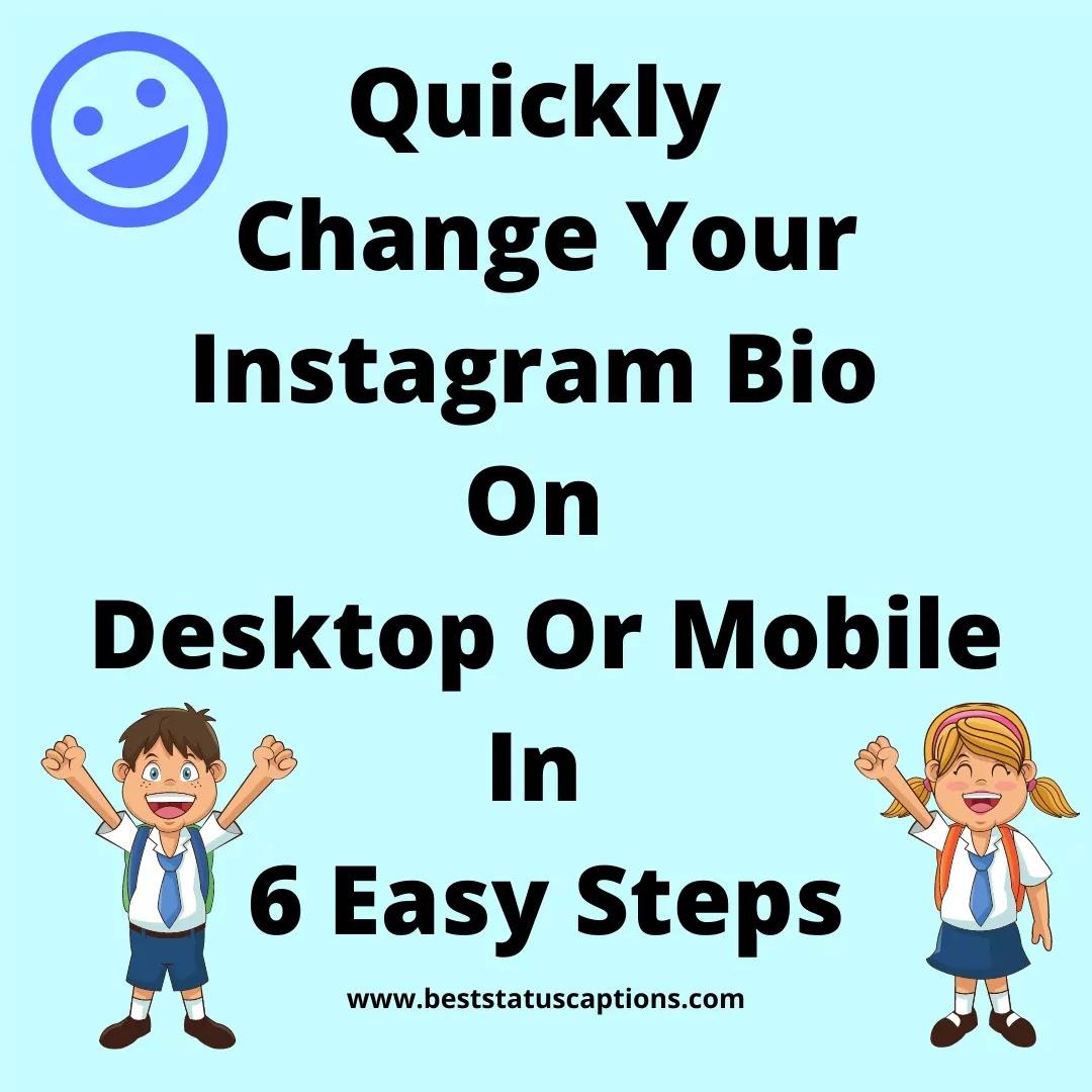 Change Your Instagram Bio On Desktop Or Mobile In 6 Easy Steps