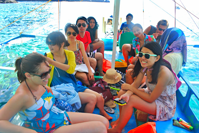 Levy Amosin with Celine Murillo, Kara Santos and Mujee Gonzales