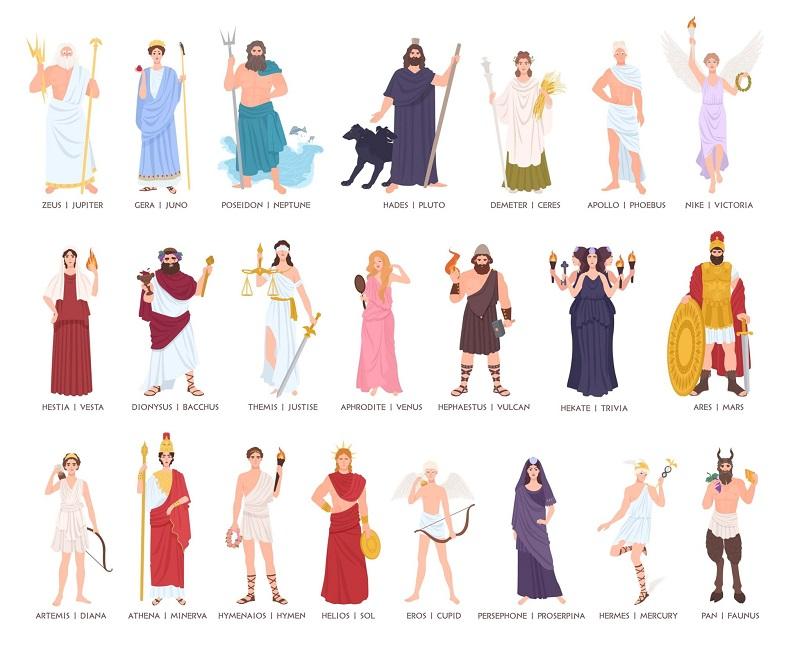 Nomes Dos Principais Deuses e Deusas Romanos