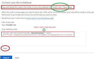 HTML Code paste in website edit theme settings