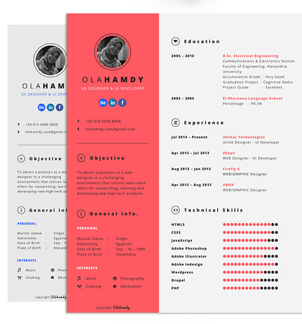 Kumpulan cv dan resume template gratis download template cv dan resume gratis yelopaper Images
