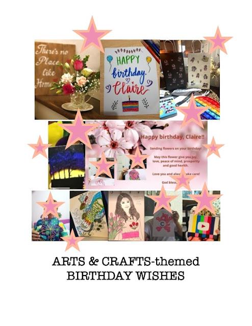 arts and crafts, birthday blah to TADA, artwork