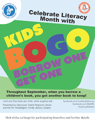 at your library  in the north island eagle: kids bogo at the library