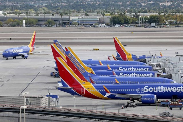 Southwest Airlines Flight to Las Vegas from Sacramento in April 2020