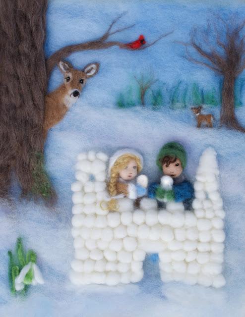 snowman building