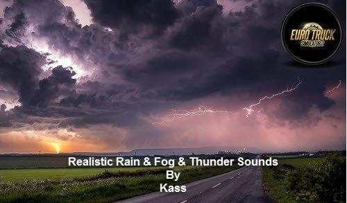 Realistic Rain ETS2, Thunder Sounds