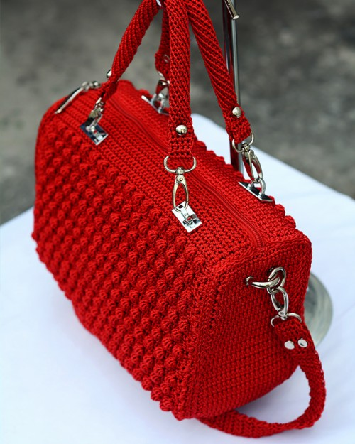 Bobble Stitch Handbag - Tutorial