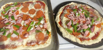 Ham on Pizza!  Great way to use leftover ham-Vickie's Kitchen and Garden