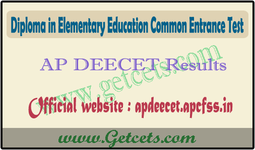 AP DEECET Result 2021, dietcet rank card download @apcfss.in