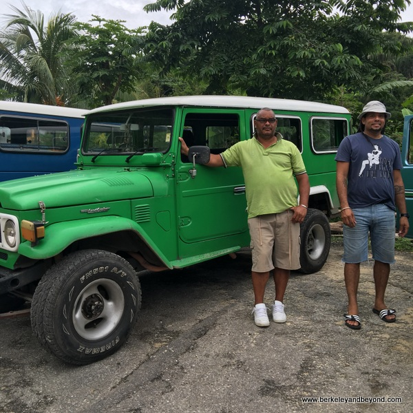 jeep tour drivers in Paramin Village in Trinidad