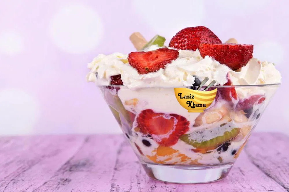 Fruit Cream Chaat Recipe in Hindi