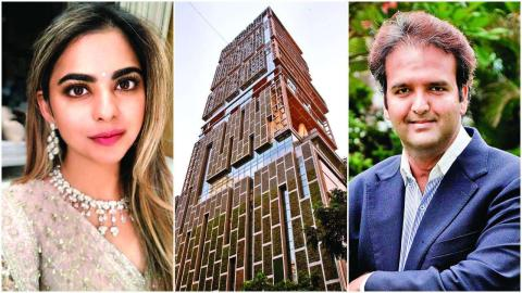Mukesh and Nita Ambani daughter Isha Ambani wedding Anand Piramal at Antilla