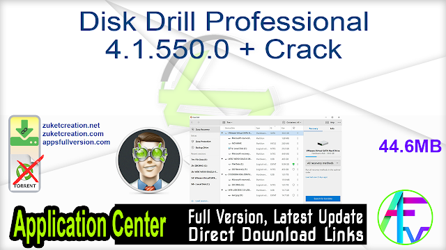 Disk Drill Professional 4.1.550.0 + Crack