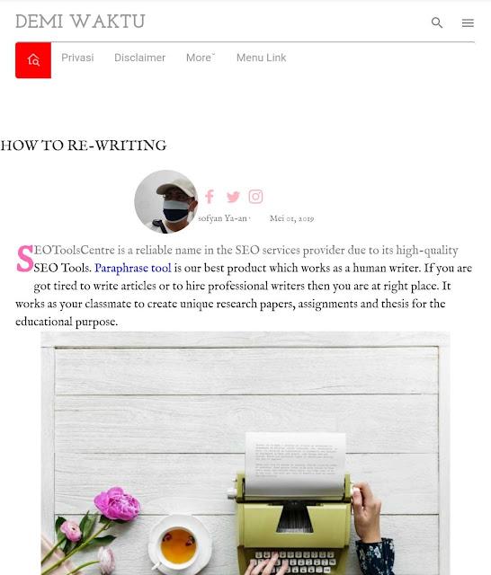 contoh gambar profile penulis diatas postingan