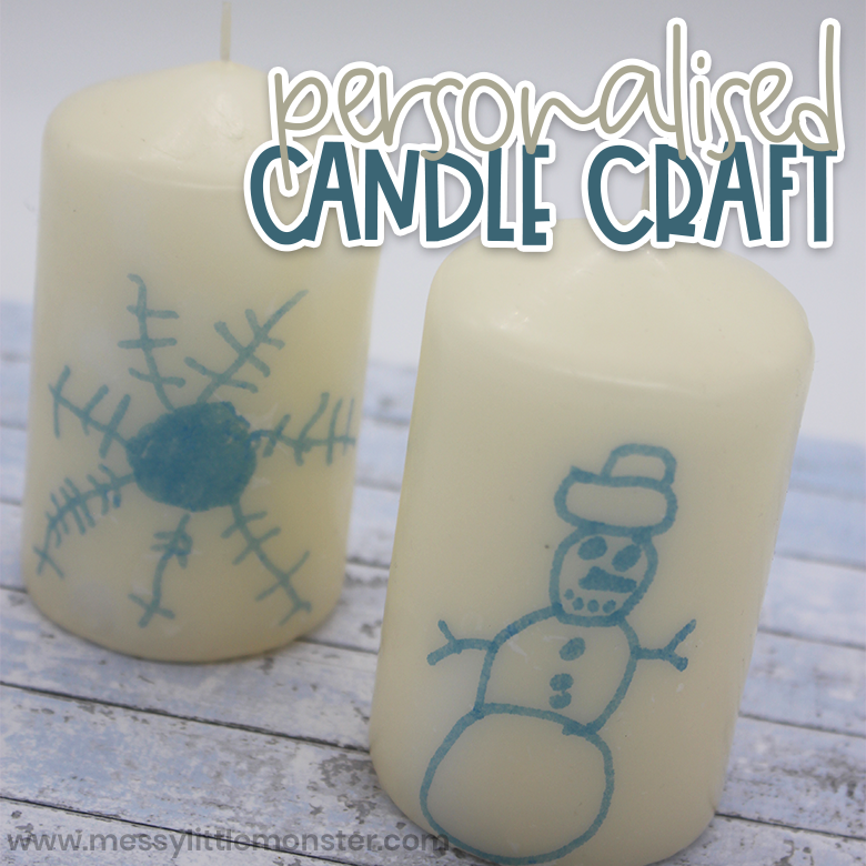 personalised candle winter craft for kids