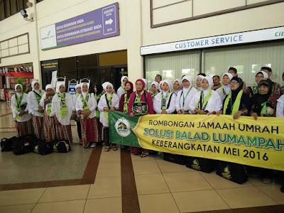 Persiapan di bandara untuk melakukan penerbangan dari Jakarta ke Jeddah