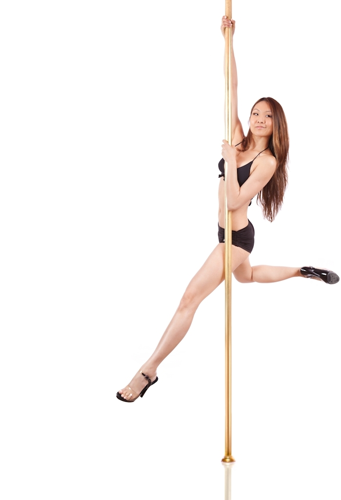 Back stag - Core muscles are constantly being worked out, and anyone who has been doing pole exercises consistently will find a six-pack beginning to appear.