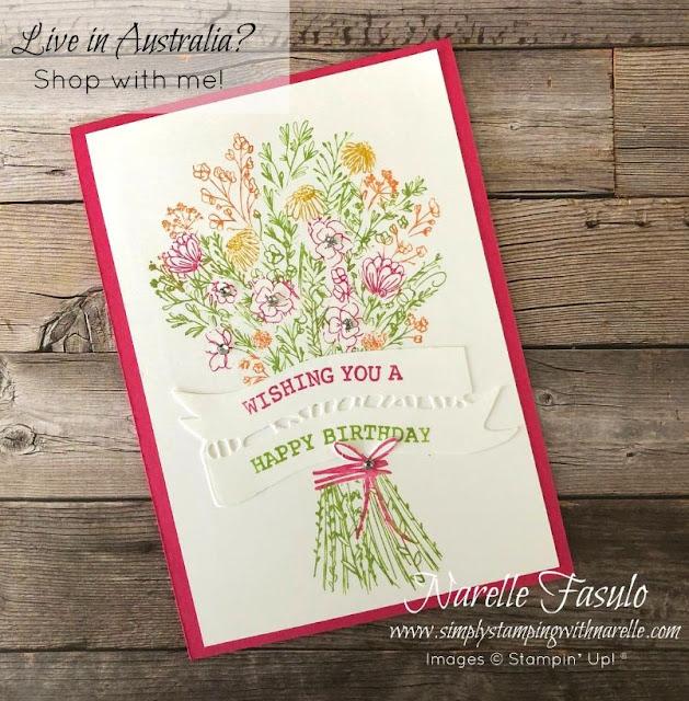 Hand Drawn Blooms stamp set
