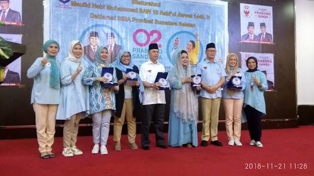 Srikandi Rakyat (SIRA) Provinsi Sumatera Selatan Siap Memenangkan Prabowo-Sandi