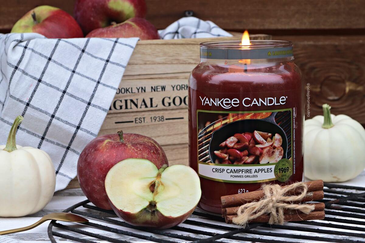 Yankee Candle Crisp Campfire Apples - czy świeca o zapachu jabłek z cynamonem może jeszcze czymś zaskoczyć?