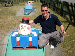 With Humpty at the Bainland Country Park Crazy Golf course in Woodhall Spa, Lincolnshire back in 2011