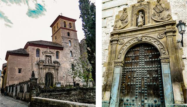 Granada, Andaluzia - Igreja de San Pedro y San Pablo e Convento de San Bernardo