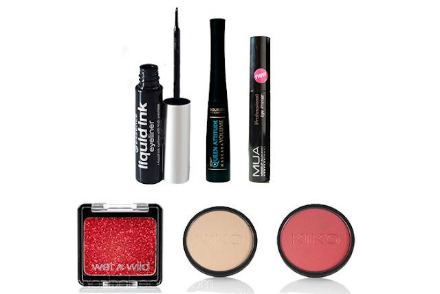 Productos utilizados en el maquillaje inspirado en Bella.