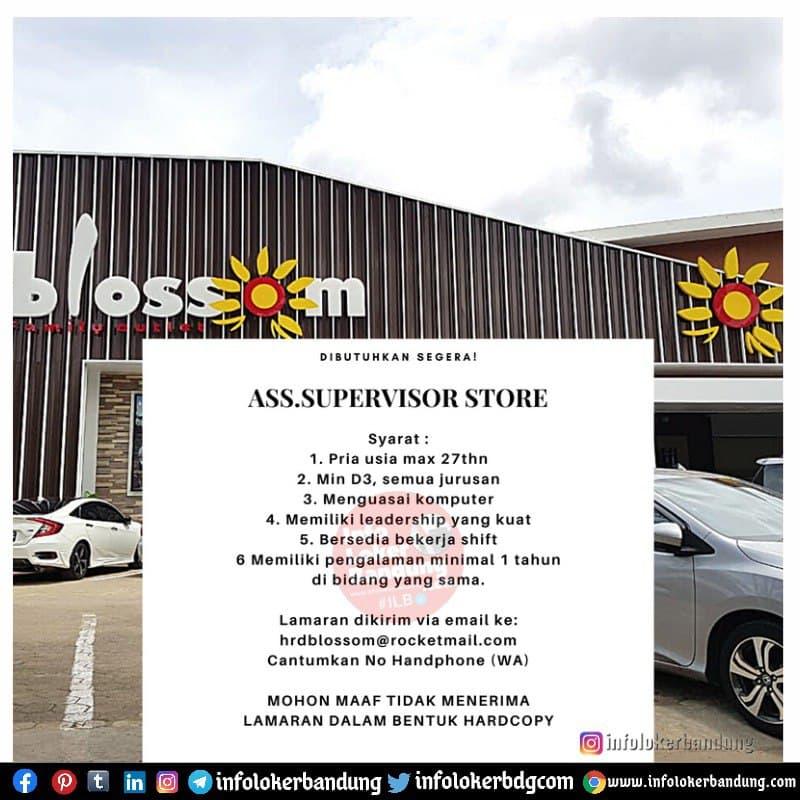 Lowongan Kerja Ass. Supervisor Stora Blossom Factory Outlet Bandung Mei 2021