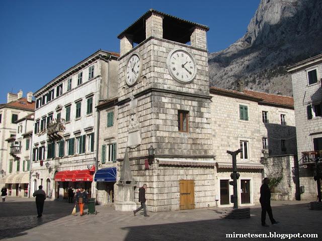 Часовая башня - Котор, Черногория