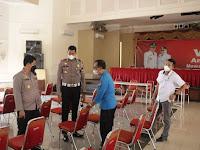 Kapolres Ponorogo Tinjau Persiapan Lokasi Serbuan Vaksinasi Merah Putih di Sasana Praja