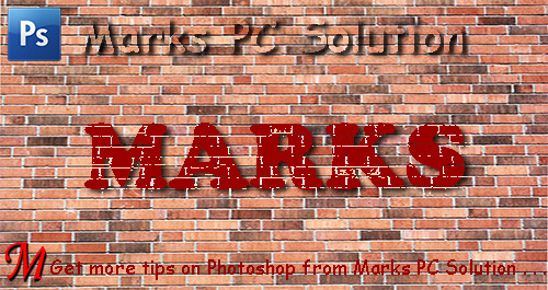 Blend Text with Brick Wall