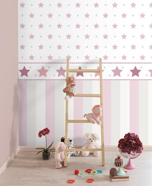 Papel pintado papel pintado infantil treboli - Papel pintado de pared ...