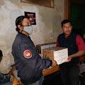Pembina JBN Marsda TNI I Nyoman Trisantosa Bantu Wartawan Saat Pandemi Covid-19