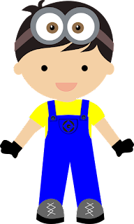 Kid Disguised as Minions Clipart