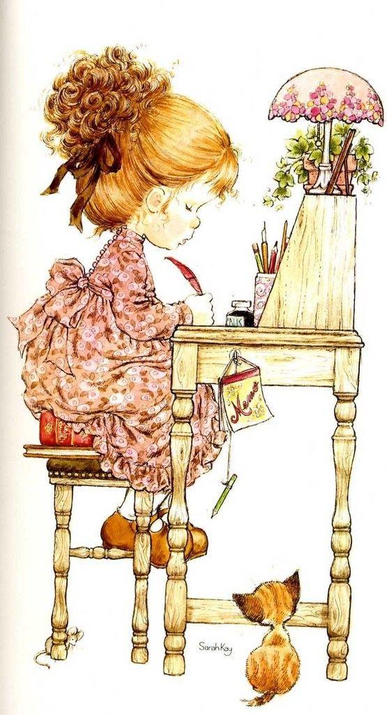Desenho de Sarah Kay - Escrevendo Carta