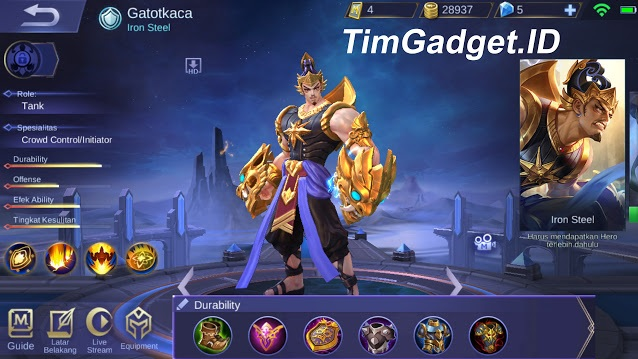 Build Hero Gatotkaca Mobile Legends Asal Indonesia, Build Tank Terkuat!
