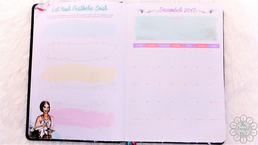 A Close-up Look inside a Filipino Lady`s Planner: 2018 Belle De Jour Power Planner | First Impressions and Reviews | Let Your Feathers Soar and December 2017 Pages | by +The Graceful Mist (www.TheGracefulMist.com) Top Beauty, Books, Health, Fashion, Life, Lifestyle, Style, and Travel Blog/Website - by Filipino/Filipina/Pinay - Blogger/Freelance Writer in Quezon City, Metro Manila, Philippines