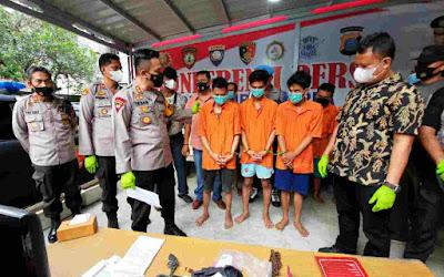 Mantaf ! Polsek Medan Area Berhasil Ciduk 3 Orang Komplotan Pencuri, Kerugian Ditaksir Rp 100 Jt